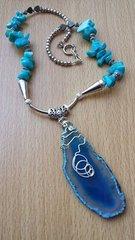 Dark Blue Agate Necklace