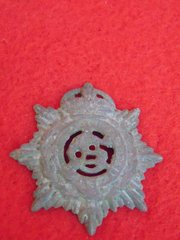 British Army service corps cap badge recovered at Thiepval on the Somme in 2016
