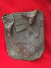 German soldiers gas cape bag dated 1942 recovered from the Ardennes Forest from the battle of the bulge in the winter of 1944