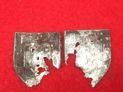Pair of German Shields for Army Marksman's Lanyard recovered from Stalingrad from 1942-1943 battlefield in Russia