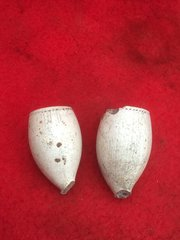 Pair of soldiers smoking pipe ends,nice condition relics recovered from the battlefield at Passchendaele from the 1917 battle part of the third battle of Ypres