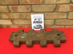 Female track link with factory markings from Russian T-34 tank recovered from the Kursk battlefield of 1943 in Russia