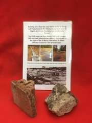 2 sections of Building brick recovered from the Cooler at Stalag Luft 3 the site of the Great Escape on 25th March 1944 at Zagan in Poland