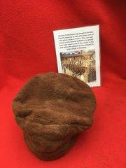 VERY RARE German Feldmutzen cap size 57 issued to British,French prisnors of war found on the Somme battlefield