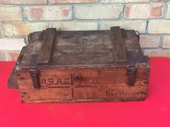 German artillery wooden ammunition crate it is dated April 1917 very nice condition,lovely markings,paper label remains found on the Somme