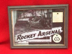 Very rare pair of German workers passes for the V1,V2 factory at Nordhausen in a glass frame
