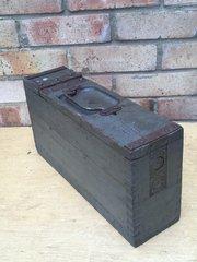 1st Pattern German Maxim machine gun wooden ammunition box very nice condition with original paintwork found on the Somme battlefield