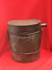 French Army issue large cooking tin complete,nice condition,maker stamp on the bottom found on the Somme battlefield