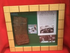 Glass framed German MG 13 magazine recovered from the Ardennes Forest from the scene of the battle of the bulge in the winter of 1944 from Hitler's last big offensive of the war