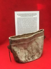 German crewman's mess tin dated 1941 with black paint work recovered from U-Boat U534 which was sunk on the 5th May 1945