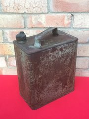 British 2 gallon fuel can complete with maker markings and green paintwork found on the Somme battlefield of 1916-1918
