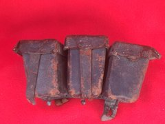 German soldiers G98 ammunition pouch dated 1915 nice solid condition recovered from under the floor of a barn in the village of Pys around 30 years ago on the Somme battlefield 2