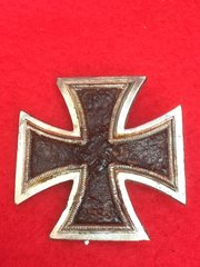 German soldiers iron cross first class medal large pin version,very nice clean condition recovered from the Falaise Pocket in Normandy 1944 battlefield