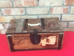 German wooden carry crate with paper labels,marks,stampes dated 1943,fantastic condition for Gewehr Sprenggranate 30 (anti-personnel rifle grenade) rounds found in Normandy