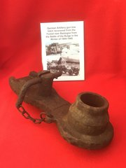 German Artillery gun tow hitch recovered from the Forest near Bastogne from the battle of the Bulge