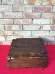German wooden crate for 7.5cm Leichtes Infantry support gun in nice condition with fantastic labels inside dated last packed 14th September 1944 from the battlefield in the Ardennes Forest in Belgium