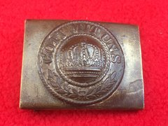 German Prussian Soldier's Belt Buckle with front plate,fantastic condition recovered from the Somme battlefield of 1916-1918