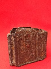 German Gewehr 43 magazine in relic condition recovered in 2015 from SS soldiers slip trench in Death Valley near Hill 112 the battle in the Falaise Pocket on the Normandy battlefield of 1944
