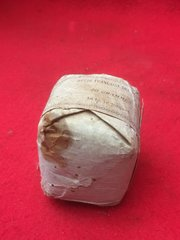 French paper soldiers tobacco pouch complete in original condition,stained with maker markings,rare to find recovered from French bunker on the Somme battlefield