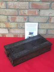 Rare British Mark 1 Hotchkiss 303 Machine Gun Ammunition Box made in 1918 used by the Mark V Tank found in April 2018 in a barn in Morlancourt used in the 1918 battle around the Somme