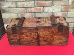 US Army, Wooden Crate for M1A1 Anti - Tank Mines in very good condition,yellow markings clear to see,no damage,1 divider inside found in Normandy from 1944 battlefield