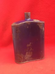 British Soldiers Water Bottle which still its original blue colour recovered in 2016 from Flers on The Somme the first village on the Somme captured using tanks