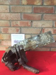 Massive lump of heavy airframe structure main airframe joint with paintwork from German Dornier 17 bomber work number 2798 shot down on 15th November 1940 and crashed at Latton Priory near Harlow