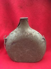 French soldiers ww2 water bottle still with its original dark green cover found at Dunkirk
