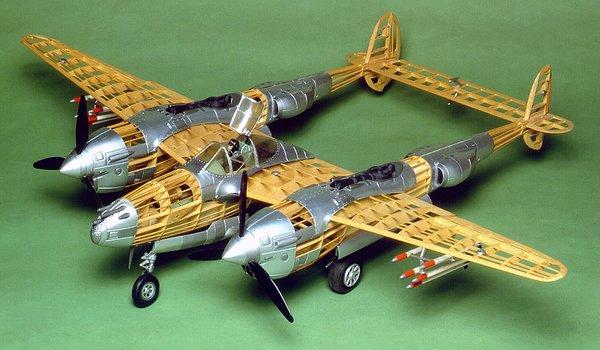 Guillow S Lockheed P 38 Lightning Balsa Wood Model