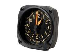 Cockpit-Style Alarm Desk Clock W/Non-Functioning Winding Knob  TRI-0104VK