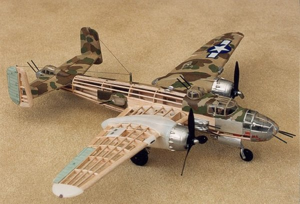 Guillow S North American Aviation B 25 Mitchell Balsa Wood