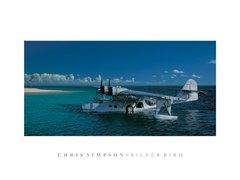 """Chris Simpson Print, PBY Catalina """"Silverbird"""""""