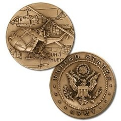 Bell UH-1 Iroquois (Huey) U. S. Army Challenge Coin  NTM-48693