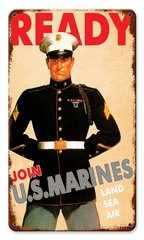 USMC Recruiting Poster Metal Sign CAP-0109