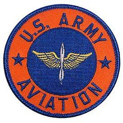 """Army Aviation Embroidered Patch, 3""""  PAT-0115"""