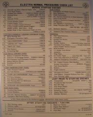 American Airlines Lockheed Electra Checklist  CKL-0107