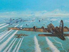 "John Amendola Print, B-17 Flying Fortress, ""The Gauntlet"""