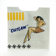 """Nose Art Panel- """"Outlaw""""  NAP-0128"""