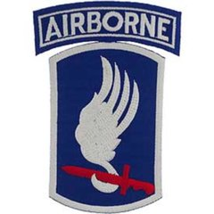 173rd Airborne Embroidered Patch  PAT-0114