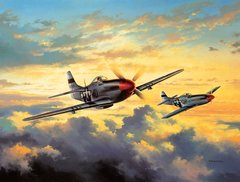 "David Poole Print, P-51 Mustang ""Combat Leaders"""