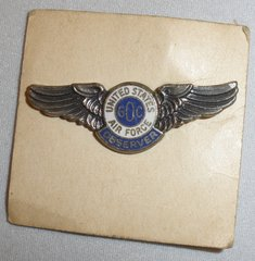 WW II Vintage Aircraft Spotter/Observer Wings, NOS on Original Card WIN-0109