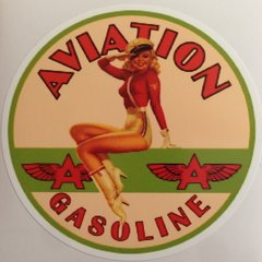 Flying A Aviation Gasoline Peel & Stick Vinyl Decal DEC-0152