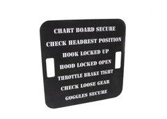 Repro. WW II Aircraft Carrier Catapult Chalkboard Checklist  CKL-0115