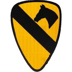 """1st Cavalry Division Embroidered Patch, 5 1/4""""  PAT-0112"""