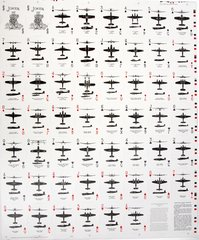 Uncut Sheet of WWII Bicycle Brand Aircraft Spotter Cards  MIS-0103SR