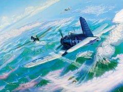 "Joseph Szady Print, F4U Corsair, Big Hog Over Bagana"""