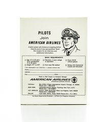 Pad of American Airlines Pilot Recruitment Forms  EPH-0111