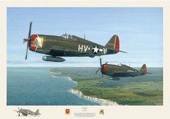 "David Gray Print, P-47 Thunderbolt ""Deadly Duo""  GRY-12"
