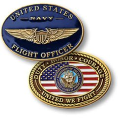 Navy Flight Officer Challenge Coin  NTM-60115