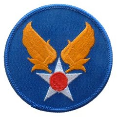 "USAAF Embroidered Shoulder Patch, 3""  PAT-0118"